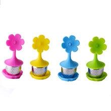 4 шт. силиконовый сито для чая с цветочным узором чайник с фильтром для сыпучих листьев травяной сито для приправ инструменты