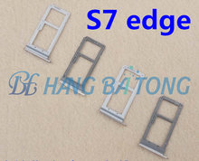 10pcs new original dual/single sim for Samsung Galaxy S7 edge G935 G935F SIM Card Slot SD Card Tray Holder Adapter all color(China)