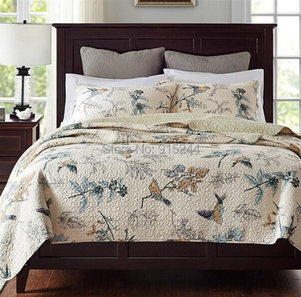 acolchar edredones colcha de algodn de la venta caliente del estilo de europa patchwork tres piezas