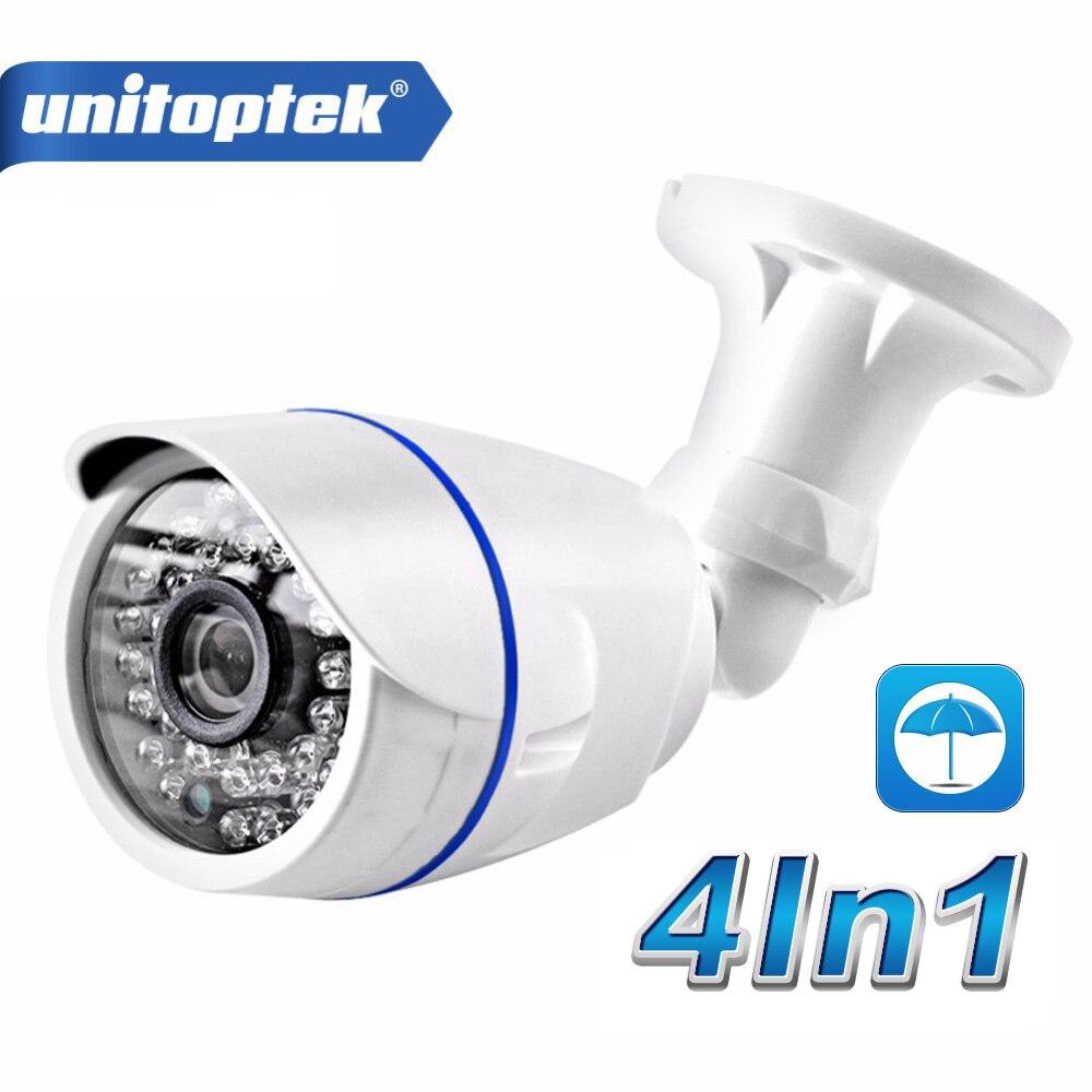 4 In 1 AHD CVI TVI Camera 720P 1080P CCTV Bullet Camera CVBS Waterproof 3.6mm Lens CMOS 2000TVL Security Camera With OSD Menu