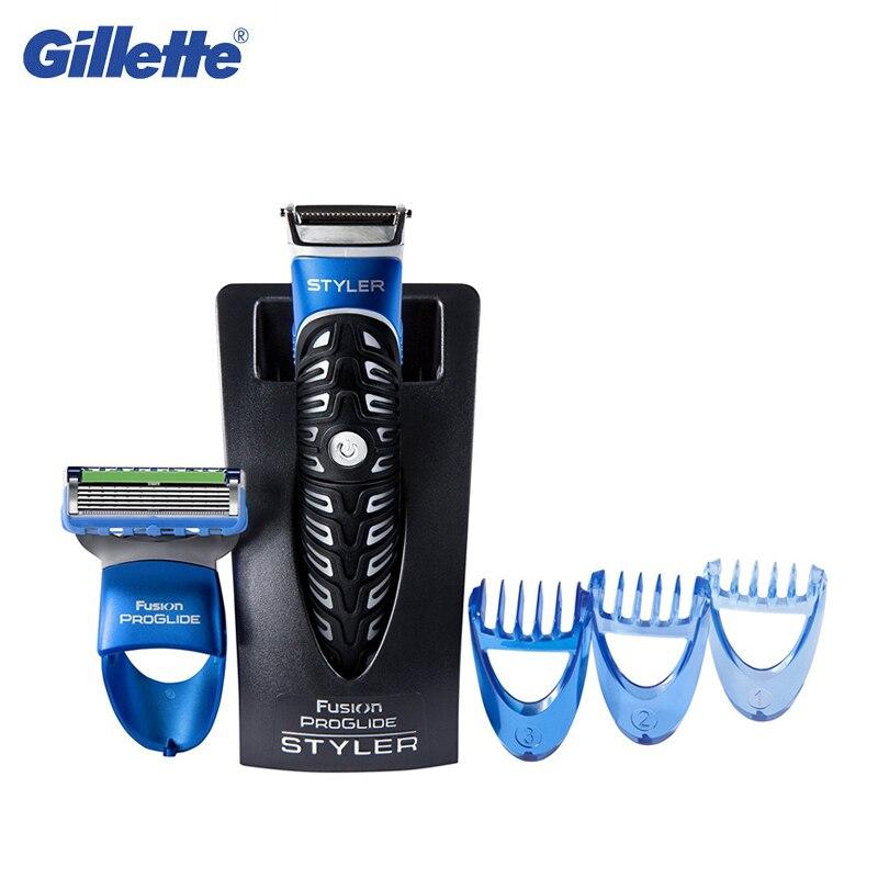Gillette Proglide Fusão Styler 3 Em 1 Navalha Lâmina de Afiação Para Homens Aparador de Barba Facial Hair Styling Ferramenta À Prova D' Água 1 pcs
