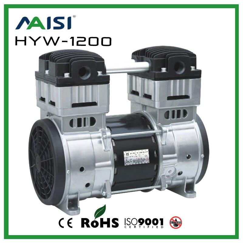 220 V AC 200L/MIN 1200 W haute pression compresseur pompe sans huile pompe à Piston modèle HYW-1200