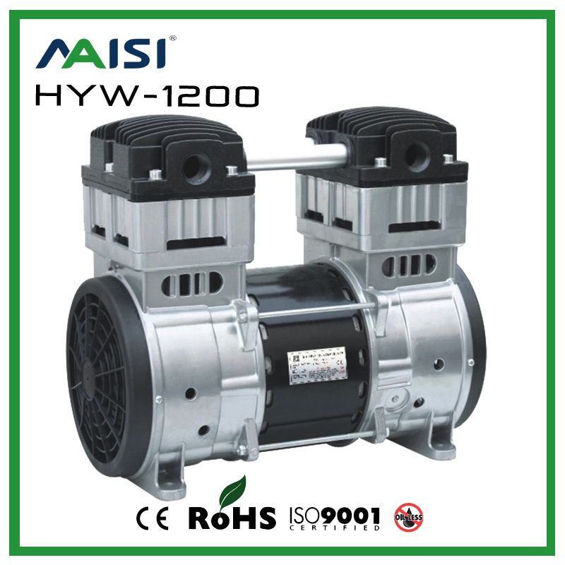 220V AC 200L/MIN 1200W High Pressure Compressor Pump  Oil Free Piston Pump Model HYW-1200 oil free air compressor high pressure gas pump spray woodworking air compressor small pump 3 1100 100l