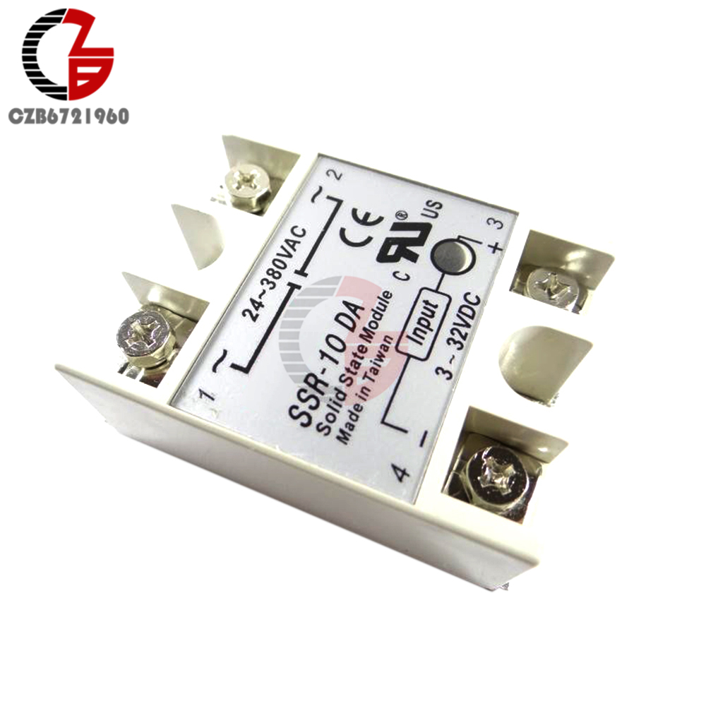 Dc Ac Solid State Relay Ssr 10da 10a 3 32v To 24 380v Schematic 1 X
