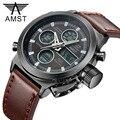 Deporte Militar Relojes de Buceo 30 M LED de Los Hombres Relojes de Primeras Marcas de Lujo AMST Cuarzo Genuino Reloj hombre reloj Relogio masculino