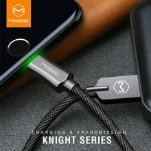 MCDODO USB кабель для iPhone 7 Plus быстрой зарядки кабель Lightning/USB кабель для iPhone со светодиодом для Iphone 8 5S 6 S Дата-кабели