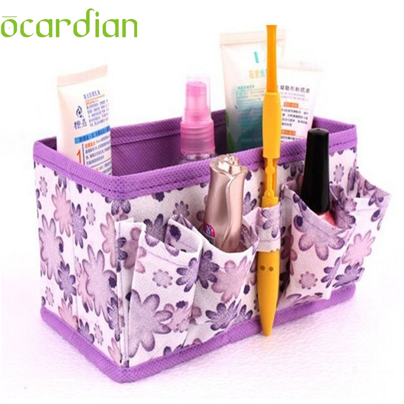 Ocardian Elegance New Qualified Storage box New Makeup Cosmetic Bright Organiser Foldable Stationary Container Dropshipping