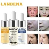 LANBENA Hyaluronic Acid Serum+Vitamin C Serum+Six Peptides Serum 24K Gold Acne Cream Moisturizing Brighten  Face Whitening Cream Skin Care