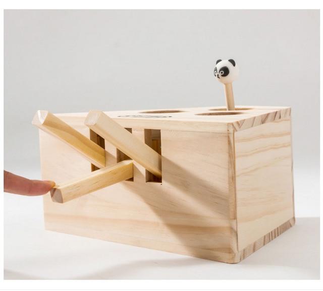 HIPET interactif en bois chat jouets dr le animal chat chasse jouet chaton ducatif 3 5