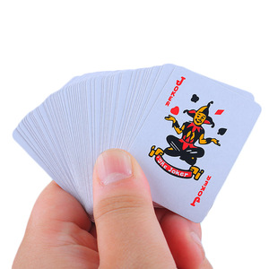 1Set Portable Foil Plated Mini Poker Traditional Set Casino Tool Board Game Waterproof Gambling Playing Cards(China)