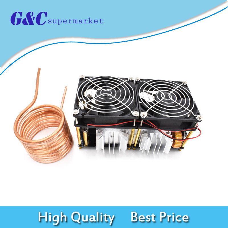 1800W 40A ZVS Induction Heating Board Module Driver Heater With Heat Sink Kit1800W 40A ZVS Induction Heating Board Module Driver Heater With Heat Sink Kit