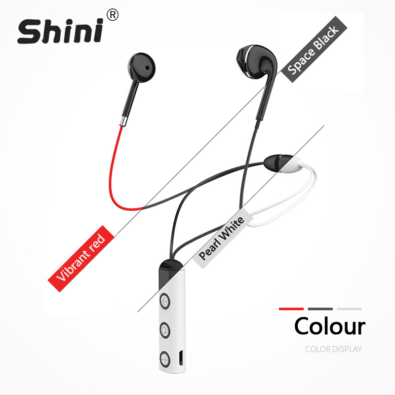 SHINI BT313 Bluetooth Earphone Wireless Enhanced Noise Reduction Technology Sport Running Headphone Waterproof for Android IOS