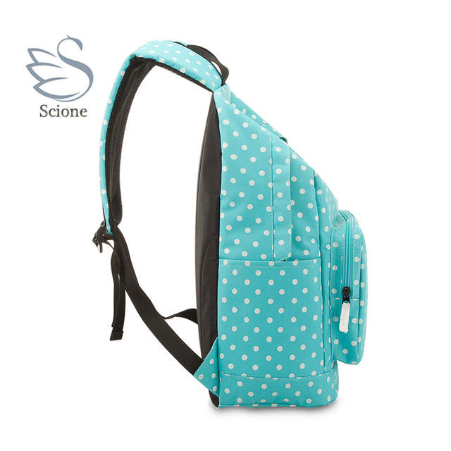 placeholder Scione Girls School Travel Sports Backpacks Dot Shoulder  Leisure Bags Korean Stylish Plain Laptop Colorful Classic a80863afcd883