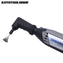 Conversor adaptador de ângulo reto, ferramenta rotativa para dremel 4000 3000 275 8100 acessórios de carpintaria abrasivos