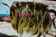10Meters/lot!12cm height  Genuine Rooster Feather Fringe feather trim,Nature Colour
