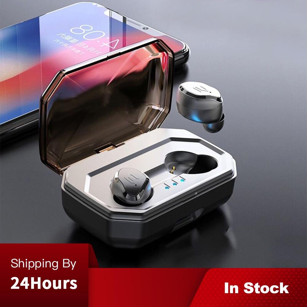 TWS V5.0 IPX6 Controle de Toque Sem Fio Bluetooth Fones de Ouvido Fones De Ouvido À Prova D' Água Auto Emparelhamento Com 3000mAh de Carregamento da Caixa