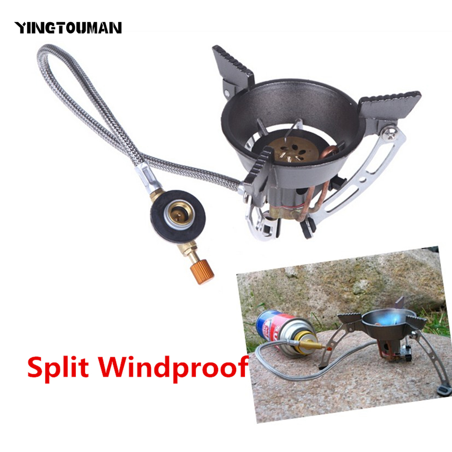 BRS-11 Portable Windproof Gas Burner Camping Camping Gas Cooker Hiking Climbing Picnic Gas Burners With Adapter Gas Stove