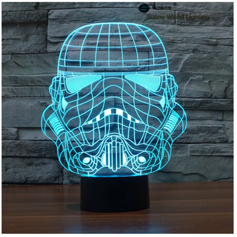 storm troops star wars touch LED 3D lamp,Visual Illusion 7color changing 5V USB for laptop,Christmas cartoon toy lamp