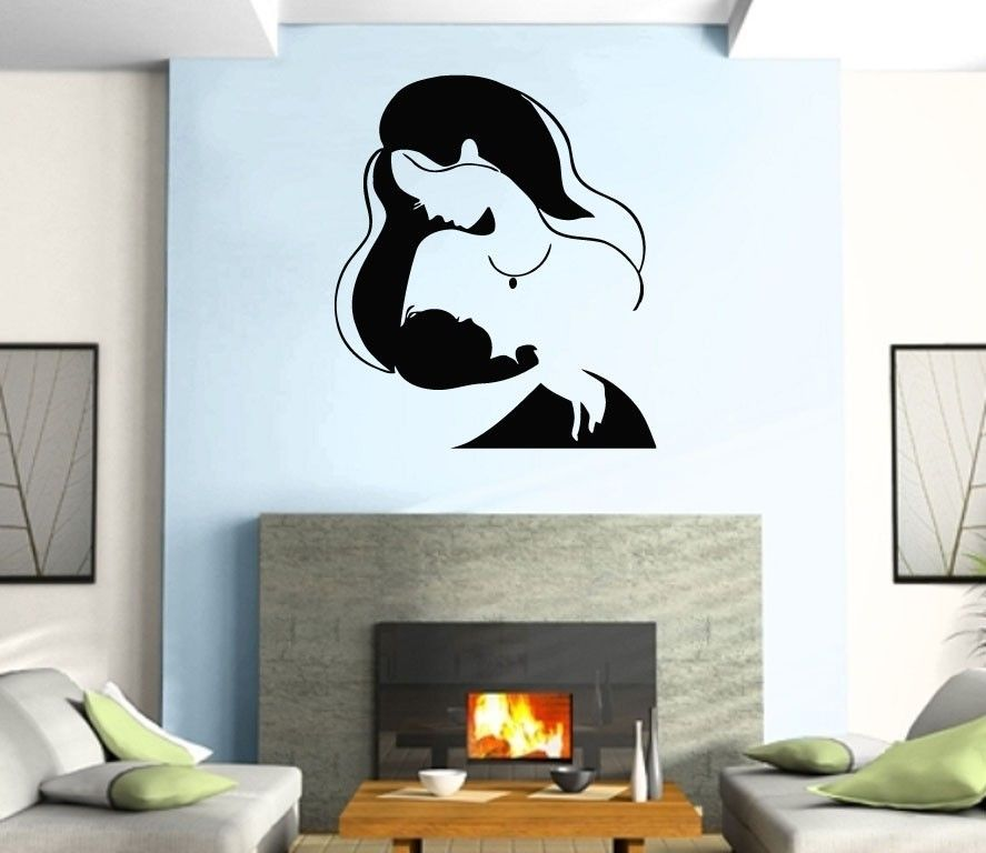 Wall Sticker Vinyl Decal New Life Mother And Baby Positive Love