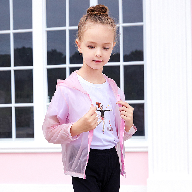 Summer Sun Protection Clothes Hoodies Kids Girls Outdoor Beach Jackets Shirt Toddler Thin Waterproof Casual Coats in Cover Ups from Sports Entertainment