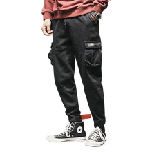 High Street  Men Clothes 2019 Joogers Pants Pockets Spring Autmn Cotton Sweatpants Korean Streetwear Mens Fashions