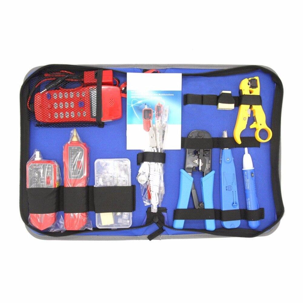 Kit d'outils de réparation de réseau avec dénudeur de fil traqueur de fil vérificateur de téléphone NF-866 outil de sertissage ensemble d'outils de Maintenance