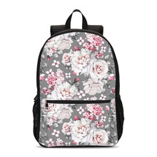Casual Flowers School Bags For Girls 2019 Sweet Cute Children School Backpack Kids Large Bookbag Primary Student Laptop Backpack(China)
