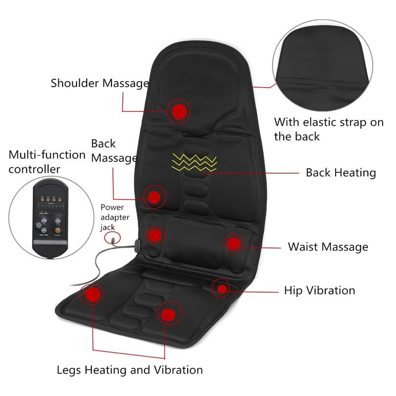Multifunctional Car Chair Body Massage Heat Mat Seat Cover Cushion Neck Pain Lumbar Support Pad Back MassagerMultifunctional Car Chair Body Massage Heat Mat Seat Cover Cushion Neck Pain Lumbar Support Pad Back Massager