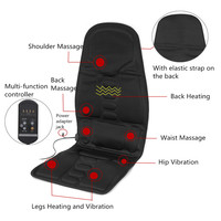Multifunctional Car Chair Body Massage Heat Mat Seat Cover Cushion Neck Pain Lumbar Support Pad Back Massager