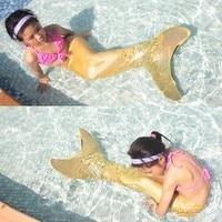 2017 Hot Sale Mermaid Tail Costume Kids Girls Mermaid Tail With Monofin Brithday Gift