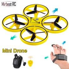 Novo mini drone pulseira controle infravermelho desvio de obstáculos mão controle altitude hold 2.4g quadcopter para crianças brinquedo presente zf04