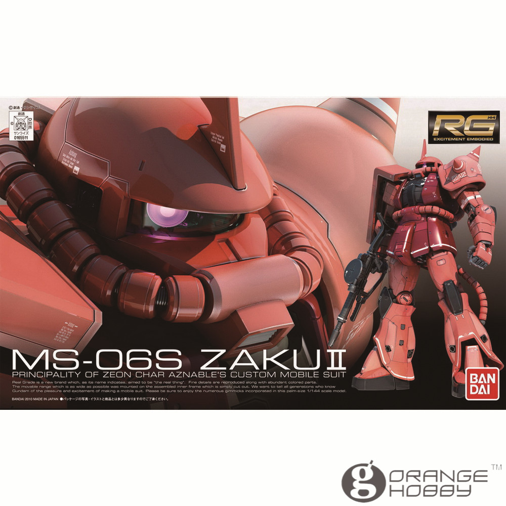 OHS Bandai RG 02 1 144 MS 06S Char s Zaku II Mobile Suit Assembly Model