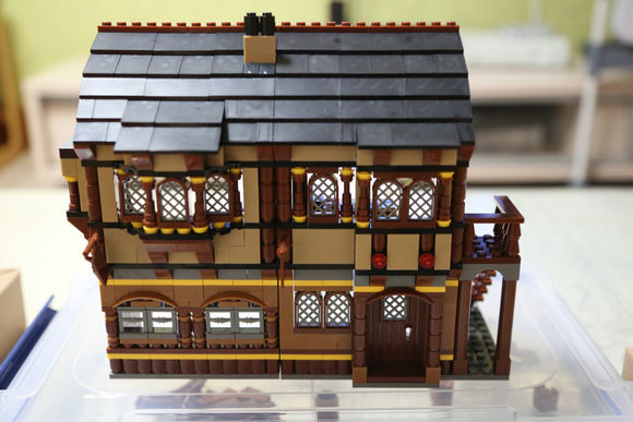 838Pcs City Medieval Happy Farm Building Blocks Brick Toy DIY Figures Compatible Lepins Model