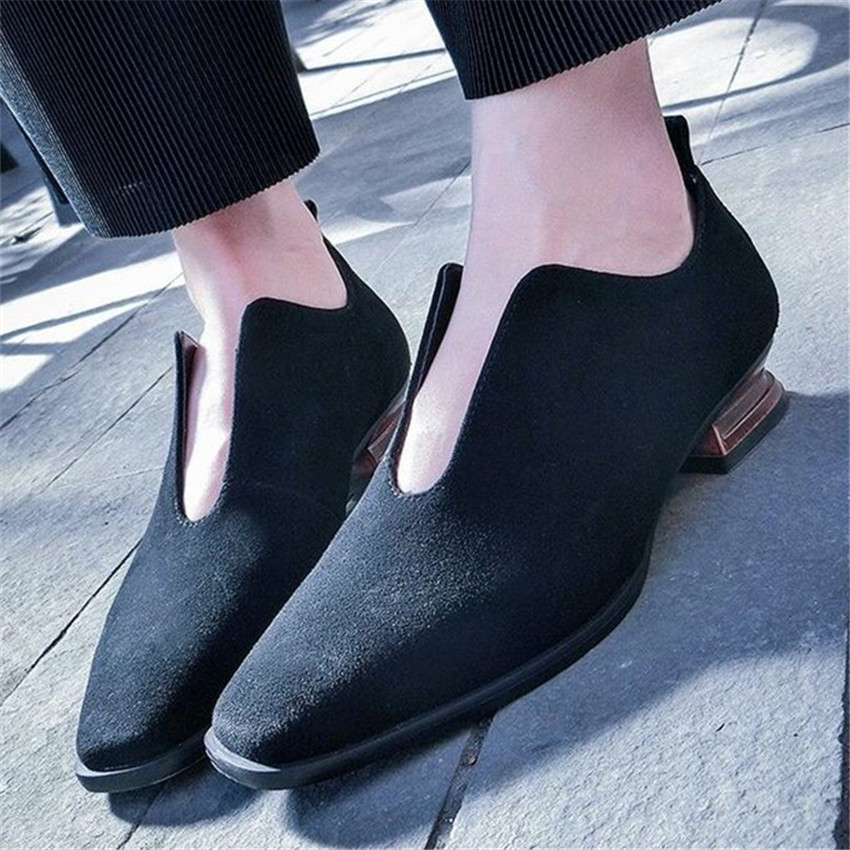 Vintage Wood Heel Women Square Toe Casual Shoes Slip On Loafers Party Dress Shoes Espadrilles Ballet Shoe Flats Creepers