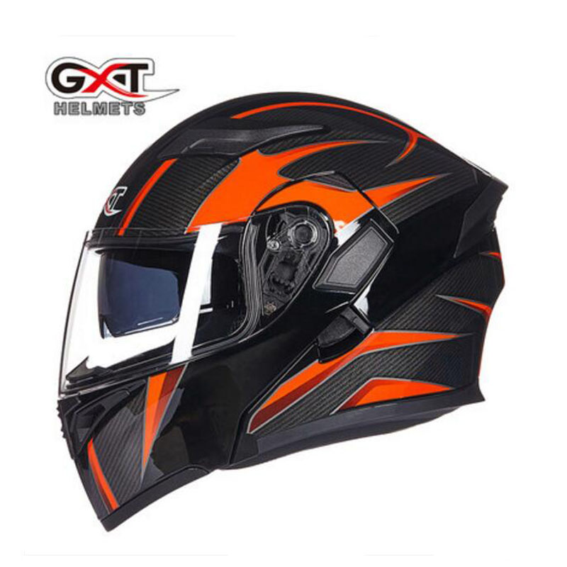 2017 New Knight protection GXT Flip up motorcycle helmet G902 undrape face motorbike helmets Made of ABS and Anti fogging lens