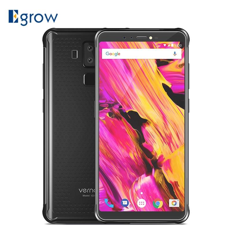 Vernee V2 Pro IP68 Étanche Smartphone 5.99 FHD Visage ID 6 gb 64 gb 21MP Quatre Cam NFC 6200 mah Android 8.1 4g Robuste Mobile Téléphone