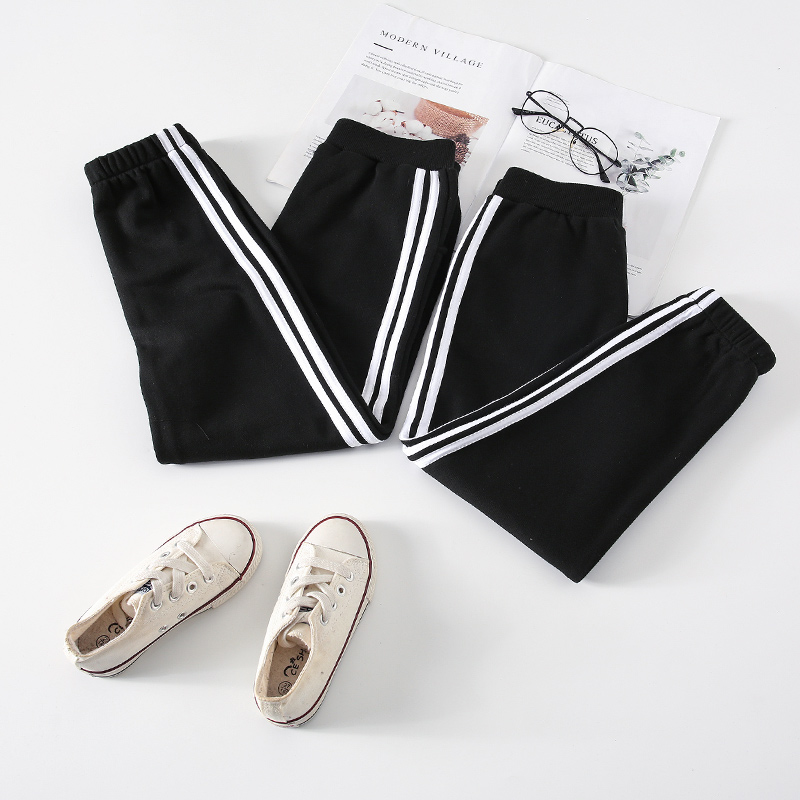 Family Matching Clothes Pants Mother and Daughter Trousers 2019 new spring autumn Elastic Sweatpants Pants father son outfits 2