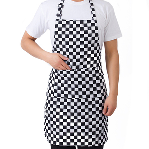 Image 2 - מטבח יוניסקס סינרי מתכוונן שחור פס סינר סינר עם 2 כיסים שף מטבח לבשל כלי לגבר אישה