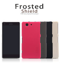 Original New Nilkin Super Frosted Shield Hard PC Back Hard Cover Case for Sony Xperia Z3 Compact Phone Case + Screen Protector