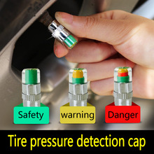 4PCS/lot Professional Car Auto Tire Pressure Monitor Valve Stem Caps Sensor Indicator Eye Alert Diagnostic Tools Kit