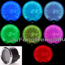 цена на 2 52mm Car Turbo Boost Vacuum Gauge Psi DC 12V instrument Colorful LED Light LCD Screen 2 inches Auto Digital Meter With Sensor