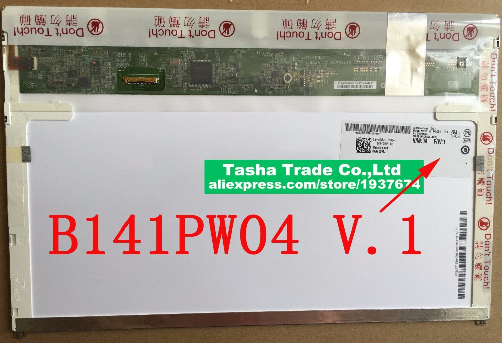 AUO B141PW04 V.1 for Dell E5410 LCD Screen 30pin LED Display Matrix 1440*900 Matte dhl ems 1pcs auo g065vn01 v 1 6 5 display lcd screen