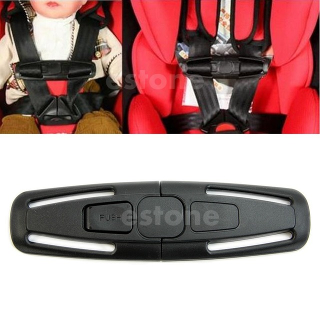 QILEJVS Baby Safety Car Seat Strap Child Toddler Chest Harness Clip Safe Buckle Black Kui