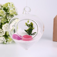 Gyroscope Shape Clear Glass Plant Flower Vase Bottle Office Home Hanging Popular New