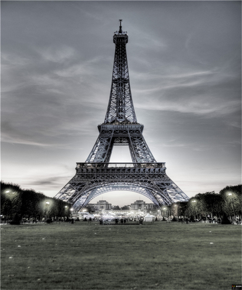 Photo Studio Background for Baby Props Vinyl 5x7ft or 3x5ft Children Gray photography Backdrops Eiffel Tower JIEGQ581