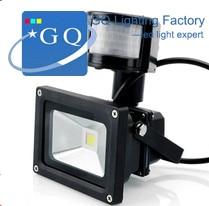 6pcs/lot Free shipping 20W IP65 85-265V waterproof PIR Motion sensor Induction Sense 5meters lamp LED Flood Light
