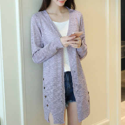 Spring Women casual long cardigan Ponchos female Loose Oversized jackets knitted jumper 2019 Summer sweater cardigan for girls
