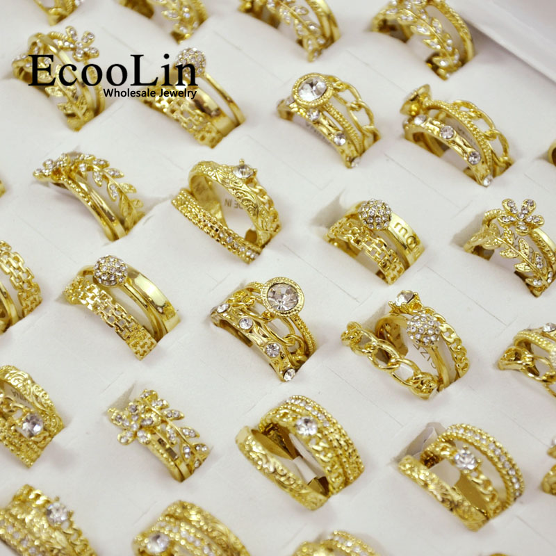 150Pieces 50Sets New Hot 3 in 1 Zircon Women Engagement Rings Sets For Wholesale Jewelry Bulks