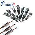 Иналы для стрельбы из лука 4 дюйма турецкие перьевые лопасти-стрелки для соединения вала изогнутый лук для охоты