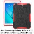 Противоударный Heavy Duty Резина Hard Case Cover Для Samsung Galaxy Tab 9.7 T550 T555C Падение Доказательство Таблетки Hard Shell Для T551 P550